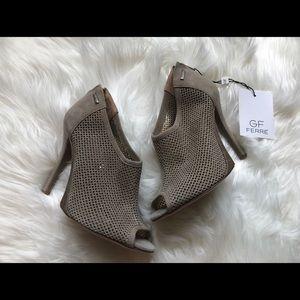 NWOB Gianfranco Ferré Perforated Bootie Heels